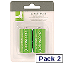 Q-Connect Super Alkaline C Batteries Pack of 2