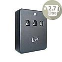Q-Connect Black 2.7 Litre Ash Bin Pack of 1 KF04271