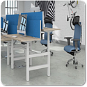 Leap Height Adjustable Sit-stand Bench Desk System