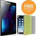 "Lenovo TAB2 A7 Tablet 1GB RAM 8GB Storage 7"" Screen Android 4.4 with FREE Reversible Case Green/Grey"