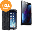 "Lenovo TAB2 A7 Tablet 1GB RAM 8GB Storage 7"" Screen Android 4.4 with FREE Reversible Case Black/Grey"