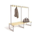 Lion Steel Double-Sided Bench with Coat Hooks 1000mm Ash