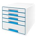 Leitz Wow 5 Drawer Desk Cube Blue 52141036