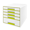 Leitz Wow 5 Drawer Desk Cube Green 52141064