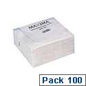 White 2-Ply Paper Napkins 330x330mm Pack of 100 KBLRY1652