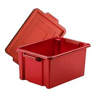 Storemaster Midi Crate With Lid 14.5L Red L360xW270xH190mm