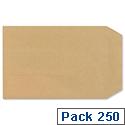 New Guardian C5 Manilla Envelopes Press Seal Pocket Pack 250 Ref D26103