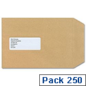 New Guardian C5 Window Manilla Envelopes Press Seal Pocket Pack 250 Ref A23013