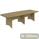Opus 2800mm Canadian Oak 2 Part Classic Boardroom Table