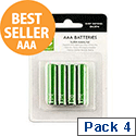 Q-Connect AAA Batteries 4 Pack