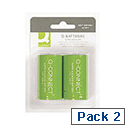 Q-Connect Super Alkaline D Batteries Pack of 2