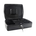 Q-Connect 10 Inch Cash Box Black