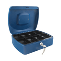 Q-Connect 10 Inch Cash Box Blue