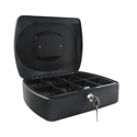 Q-Connect 12 Inch Cash Box Black