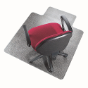 Q-Connect Universal Chairmat With Lip PVC 1143x1346mm Clear
