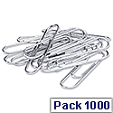 Q-Connect Paperclip 32mm Lipped Pack of 100 x 10 KF01316Q