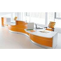modern office reception desk. Valde Curved High Gloss Illuminated Reception Desk Modern White Orange Finish RD32 Office A