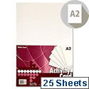 Premier A2 160g White Activity Card (Pack of 25 Sheets)