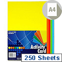 Premier A4 160g Activity Card Sheets Assorted Rainbow (Pack of 250 Sheets)