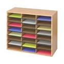 Safco 24 Wood Literature Oganiser Medium Oak 9402MO