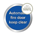 Safety Sign Automatic Fire Door Keep Clear 76mm
