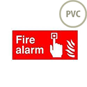 Safety Sign Fire Alarm 100x200mm PVC