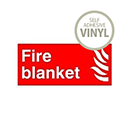 Safety Sign Fire Blanket Symbol/Flame 100x100mm Self-Adhesive Vinyl