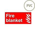 Safety Sign Fire Blanket Symbol/Flame 100x200mm PVC