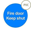 Safety Sign Fire Door Keep Shut 100x100mm PVC