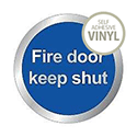 Safety Sign Fire Door Keep Shut 76mm