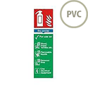Safety Sign Fire Extinguisher Dry Powder 280x90mm PVC