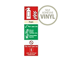 Safety Sign Fire Extinguisher Foam 280x90mm Self-Adhesive Vinyl