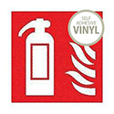 Safety Sign Fire Extinguisher Symbol 100x100mm Self-Adhesive Vinyl