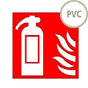 Safety Sign Fire Extinguisher Symbol/Flame 100x100mm PVC