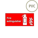 Safety Sign Fire Extinguisher Symbol/Flame 100x200mm PVC