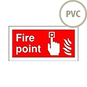 Safety Sign Fire Point 100x200mm PVC