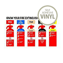 Safety Sign Know Your Fire Extinguisher 300x500mm Self-Adhesive