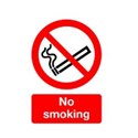Safety Sign No Smoking A5 PVC Pack of 1 ML02051R