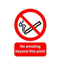 Safety Sign No Smoking Beyond This Point A5 PVC Pack of 1 PH04851R