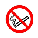 Safety Sign No Smoking Symbol 100x100mm PVC Pack of 1 PH04702R