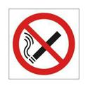 Safety Sign No Smoking Symbol 100x100mm Self-Adhesive Pack of 5 KP01N/S