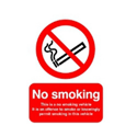 Safety Sign This is a No Smoking Vehicle 100x75mm Self-Adhesive Pack of 1 PH05104S