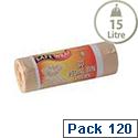 Safewrap Standard 15L Pedal Bin Liner 30 Per Roll Pack 4