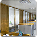 SAS SYSTEM 5000 Double Glazed Hardwood Office Partitioning System