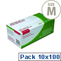 Disposable Powder Free Latex Gloves Clear Medium Pack 10x100 Shield GD05
