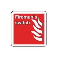 Rigid PVC Plastic Fireman S Switch Sign
