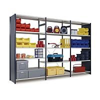 Painted Boltless Shelving Galvanised Metal Foot