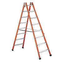 Glass Fibre Double Step Ladder No Of Treads 12 Platform Height 3.1M