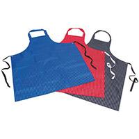 Pu & Nylon Polyester Twin Stripe Butchers Aprons Navy Blue