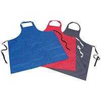 Pu & Nylon Polyester Twin Stripe Butchers Aprons Red